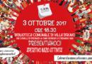 PRESENTIAMOCI: APERITIVO DI INIZIO ATTIVITA' IL 3 OTTOBRE 2017