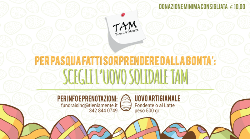 UOVO TAM: iniziativa di raccolta fondi