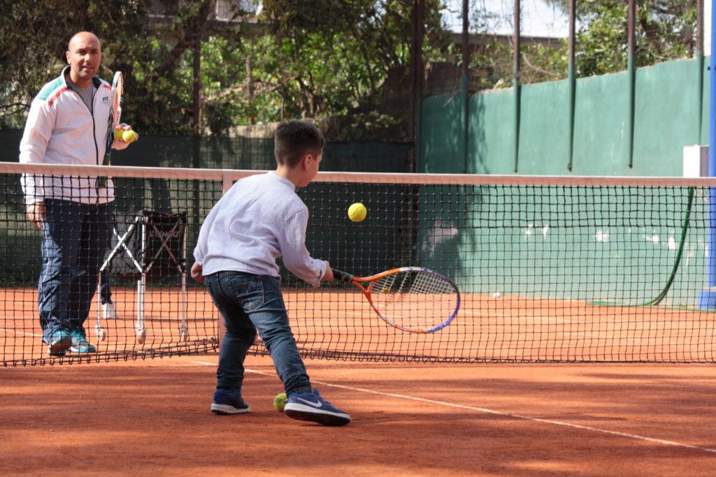 tennis, bambino, istruttore, autismo, inclusione